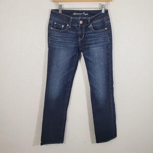 American Eagle Straight Stretch Short Inseam Jeans